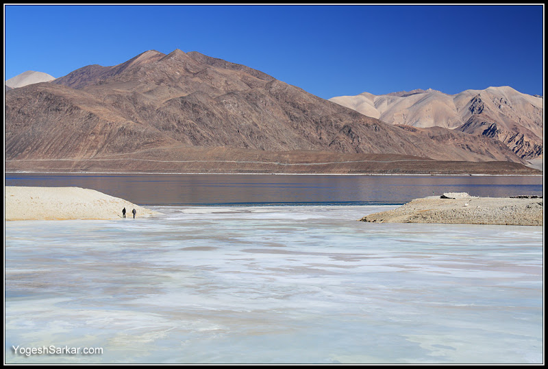 ladakh in winters lake