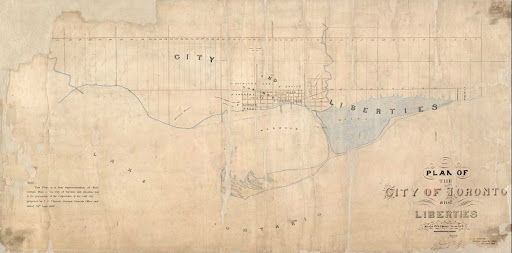 1834 Plan of the City of Toronto and Liberties MT 401