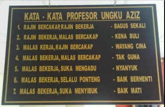 kata-kata prof ungku aziz