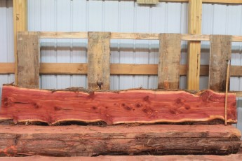 "Cedar 282-6  Length 10' 6"" Max Width (inches) 19 Min Width (inches) 13 Thickness 6/4  Notes : Kiln Dried"