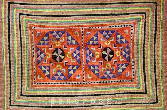Hmong tribes embroidery and applique ethnic textile from Golden Triangle 1950's