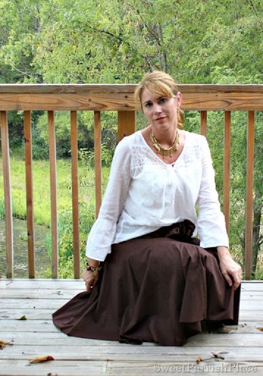 brown-midi-skirt-white-blouse4