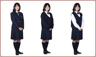 早稲田実業学校の女子の制服2