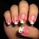 Newest Hello Kitty Nail Art Designs