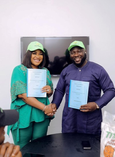 Gists: Nkechi Blessing Unveiled As Titan Farms Brand Ambassador