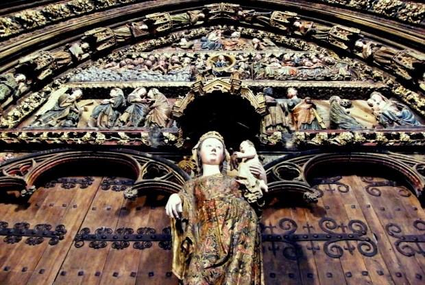 Rioja Alavesa. Pórtico de la Iglesia de Santa María, Laguardia