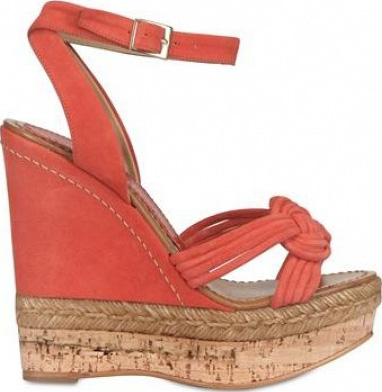 Paloma Suede ankle strap wedge