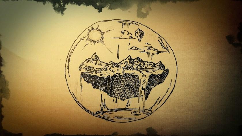 Una esfera terráquea.
