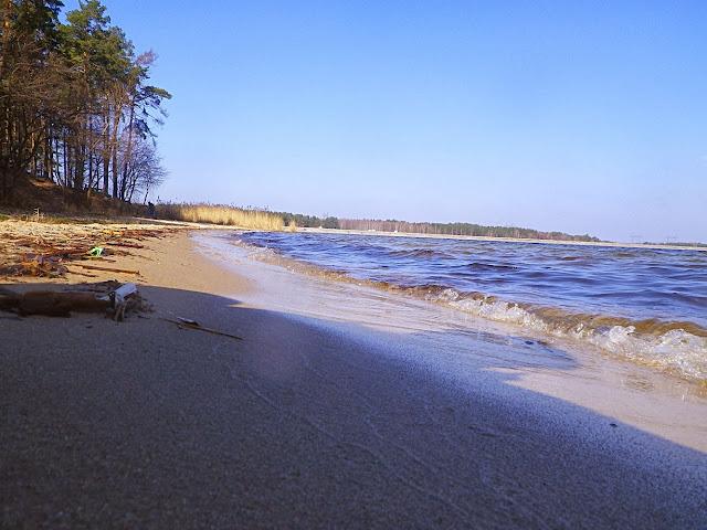 Нетішинське водосховище, піщаний пляж