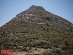 Vista atrás hacia Peña Guara y su itinerario de subida ©aunpasodelacima