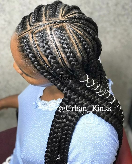 +10 Cornrows Hairstyles For Little Kids 2018 2