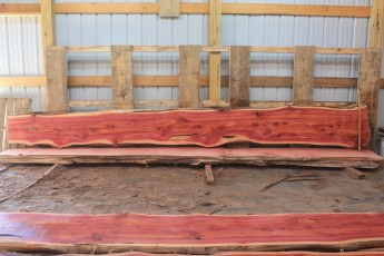 Cedar 279-5 Length 17' Max Width (inches) 23 Min Width (inches) 15 Thickness 8/4  Notes : Kiln Dried
