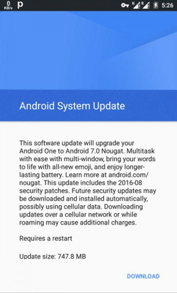 Android One phones now receiving Android 7.0 Nougat update price in nigeria
