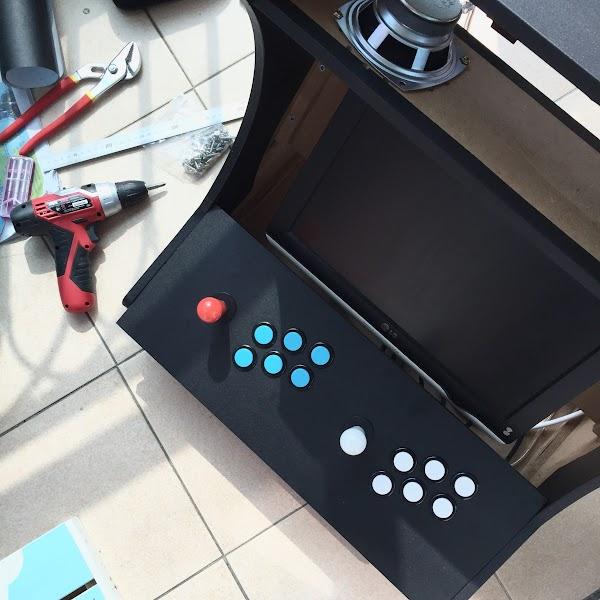 RaspberryPi 를 이용해 게임기(아케이드 캐비넷) 만들기 – 2. 케이스 제작편