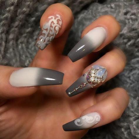 gel acrylic nail art trends 2018