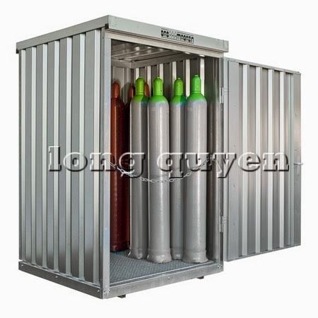 Tủ sắt để bình khí và lỏng ngoài trời A