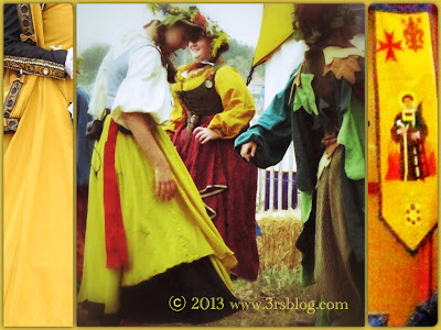 Yellow dresses and decorations at the RenFaire