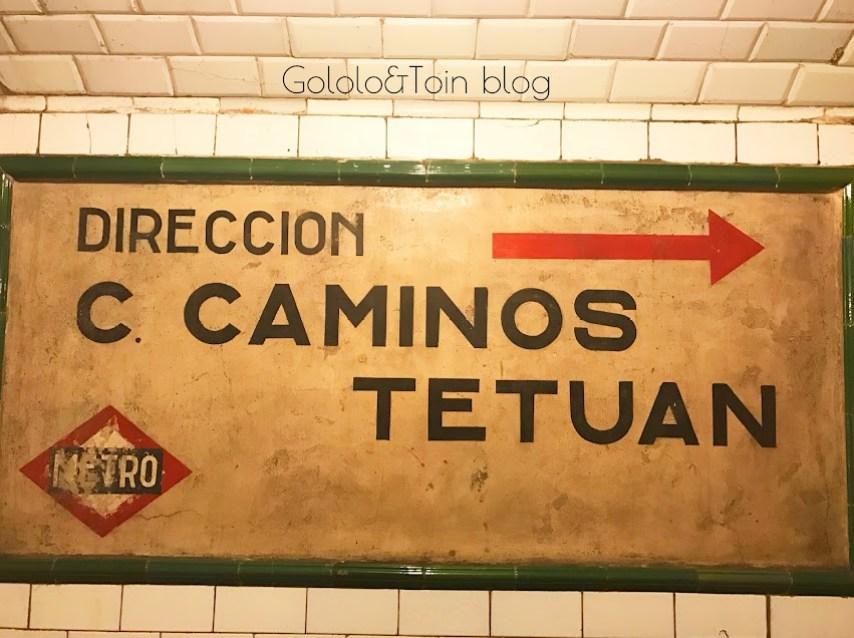 Cartel Metro de la estación fantasma de madrid