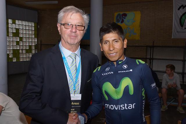Noël De Meyere en Nairo Quintana