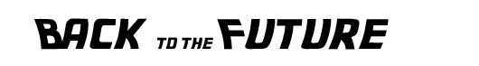 Back to the Future logo font