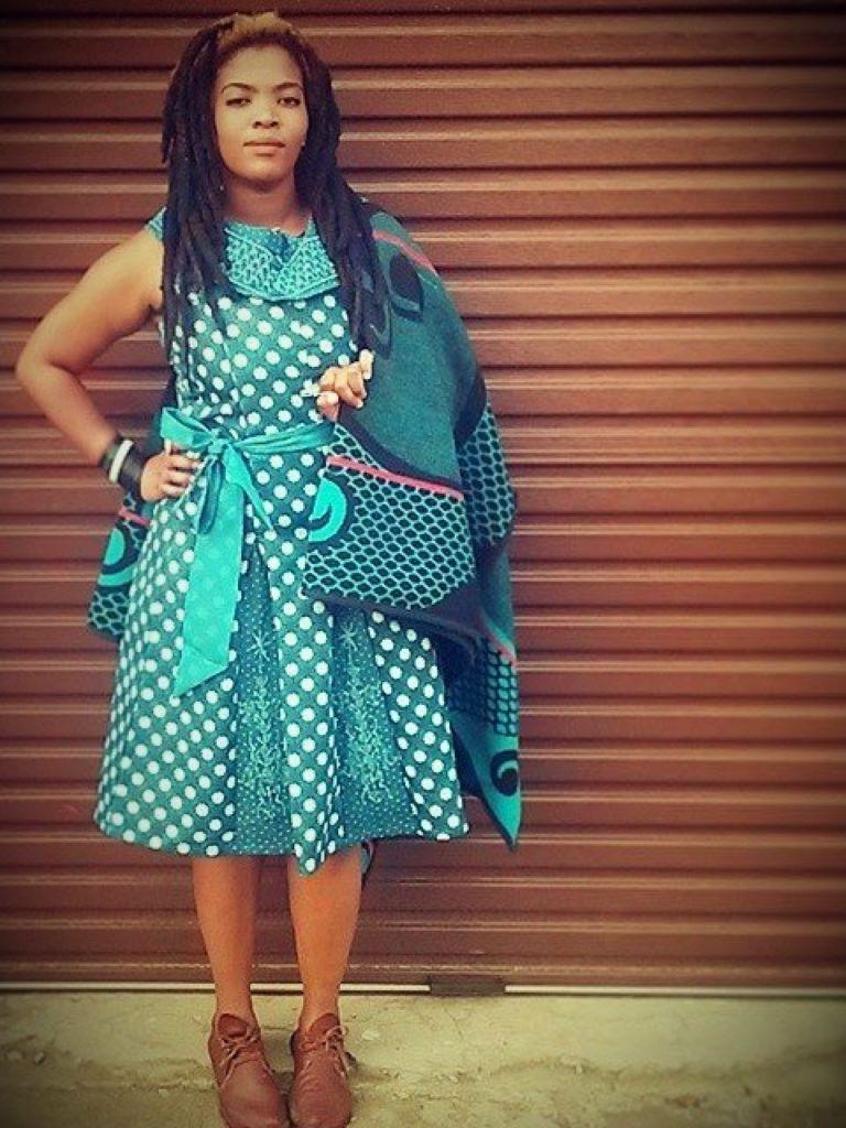 Best 10 Shweshwe Traditional Dresses Desgins   Pretty 4
