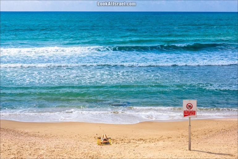 На пляже Тель-Авива | LookAtIsrael.com - Фото путешествия по Израилю и не только...