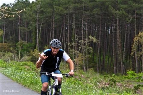 Seb en action dans le Run and Bike  Photo Robin Deprez