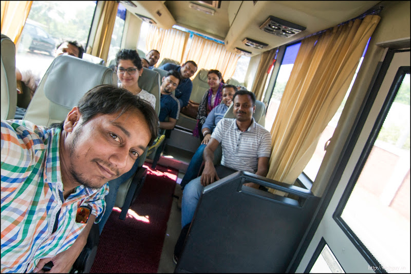 The last batch of bloggers heading to the resort - Goa