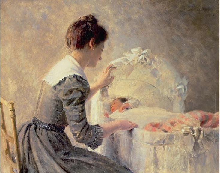 Motherhood - Louis Emille Adan - Maternidade em obras de arte