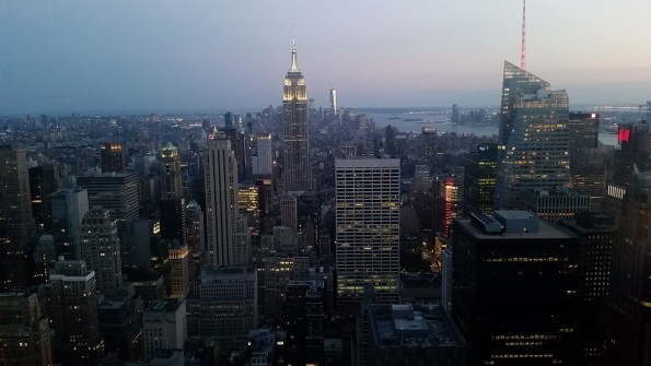 Top of the Rock after sunset
