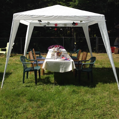 Mad Hatter Tea Party on the Lawn