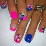 Cute summer bright nail designs 2015