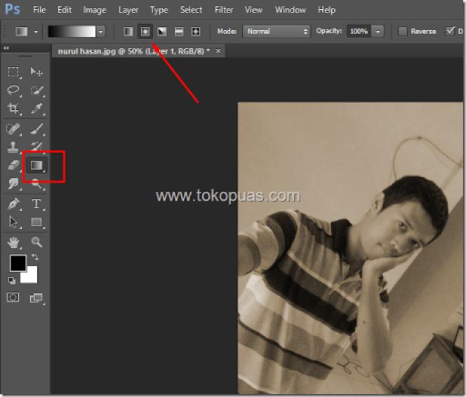 trik membuat efek foto jadul lama photoshop