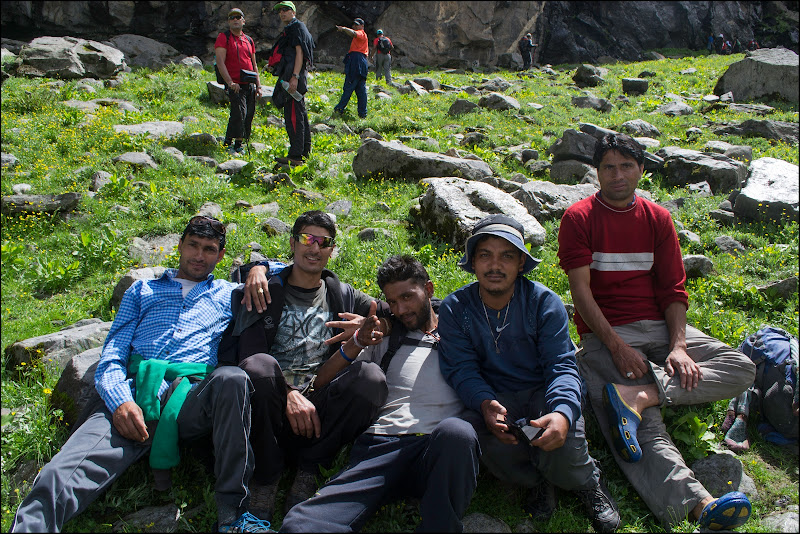 Our well-trained guides and porters, Hampta Pass Trek