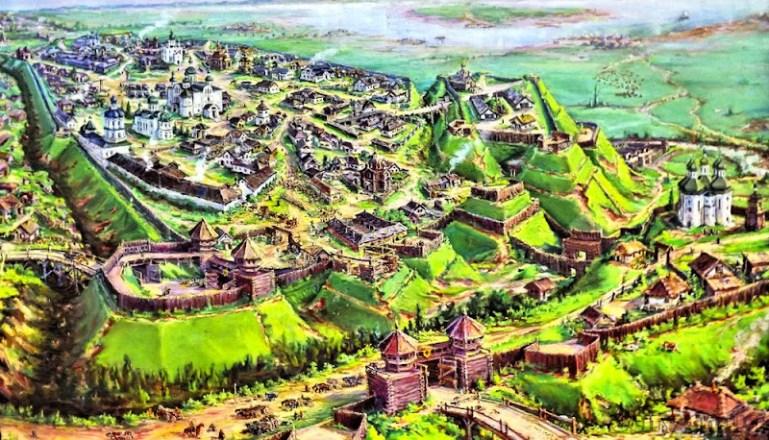 древний Чернигов, реконструкция