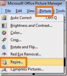 cara mengatur dimensi sebuah gambar