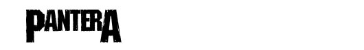Shreded font logo Pantera