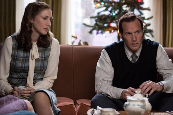 Vera Farmiga e Patrick Wilson em Invocação do Mal 2 'The Conjuring 2' (via Warner Bros.)