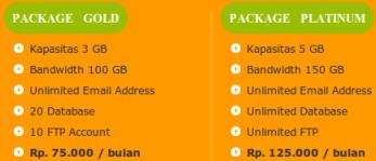Anekahosting.com paket web hosting murah