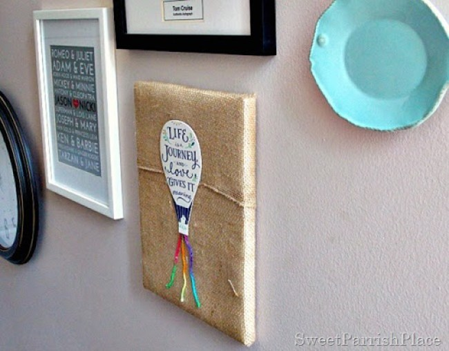 DIY Wall Art from a Greeting card