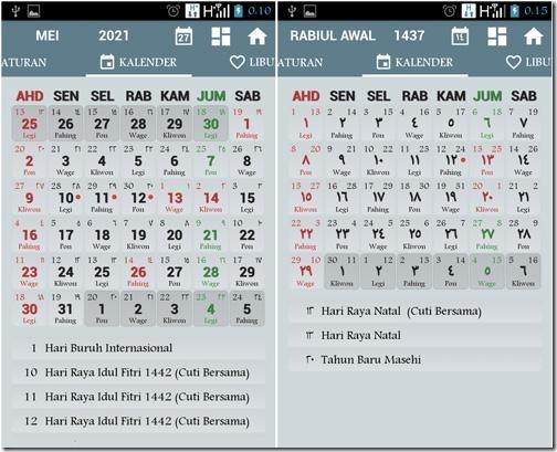 aplikasi kalendar dengan huruf arab untuk indonesia