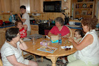 July, 2007 - Counter clockwise: Logan, Connor, Linda, Grace, Isabella, Joann