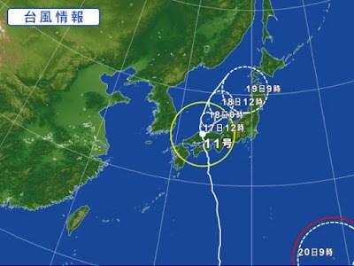 Nhật Bản chịu ảnh hưởng nặng của bão số 11
