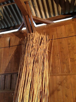 伝統的な玉露や抹茶の覆いで使われる、よしずの作り方 - 1