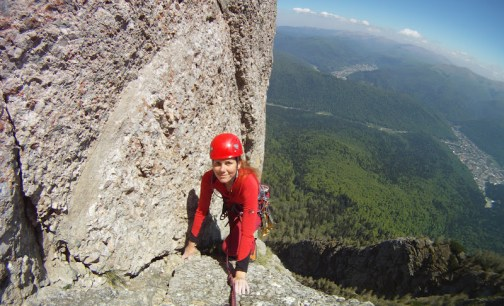 alpinism in Bucegi, traseul Fluturele de Piatra
