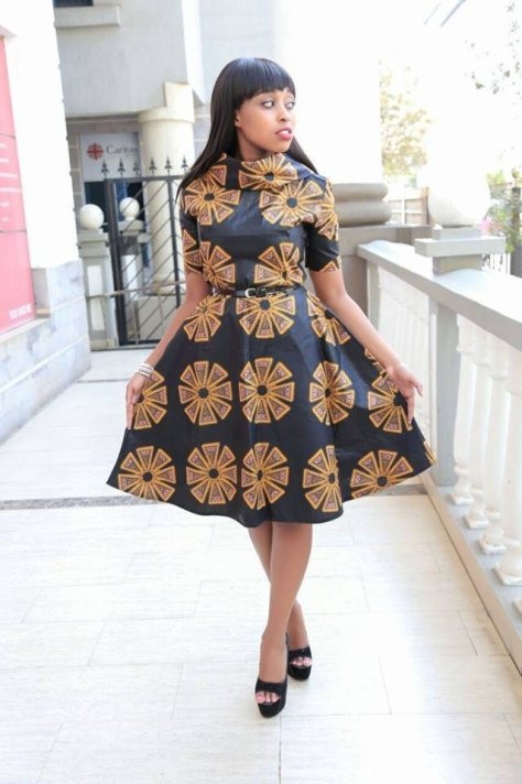 Kitenge Peplum Dress Designs