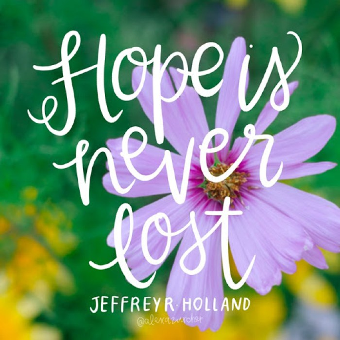 1 Hope is never lost