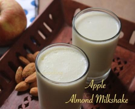 Apple almond milkshake2