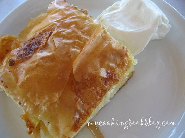 Баница с плънка от сирене, кисело мляко и яйца (със заливка)