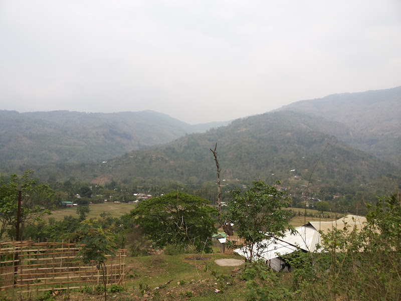 A small village en route - SIlchar-Haflong road
